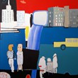 I feel strange in my city_90x100cm_olej